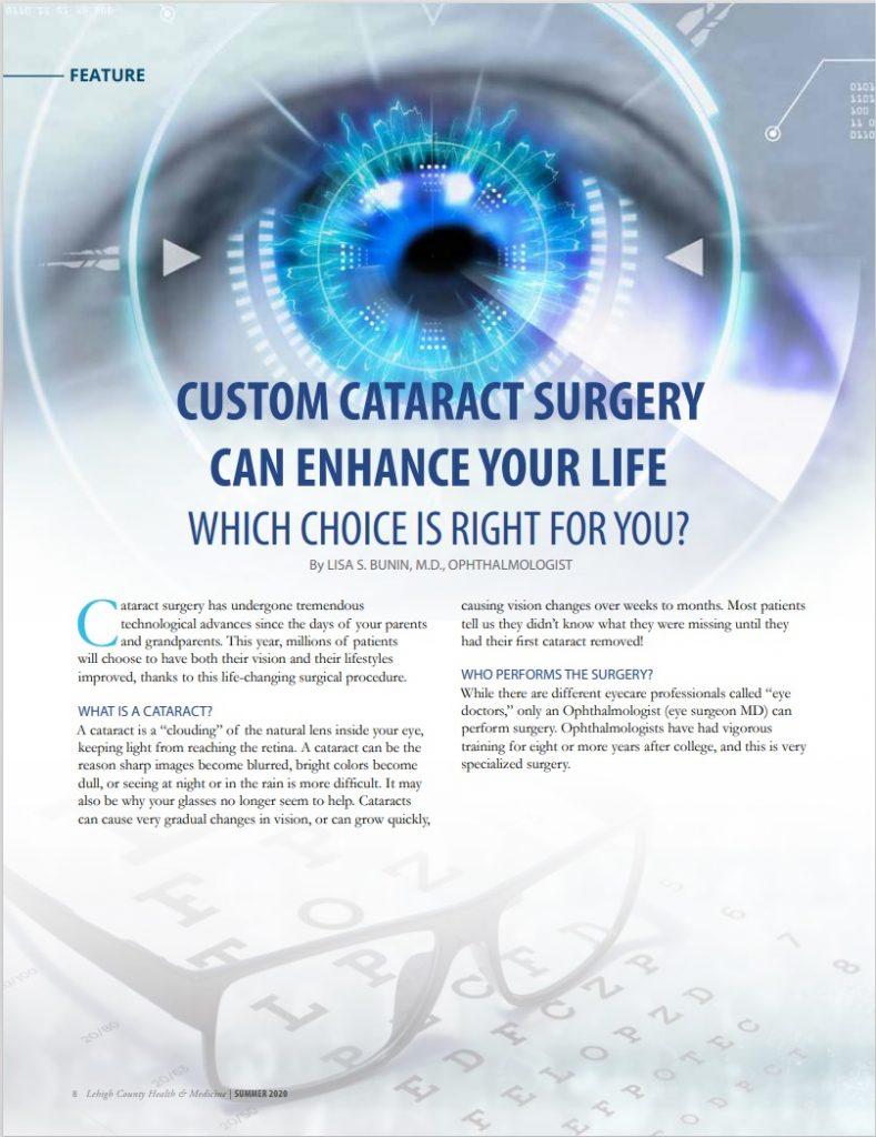 Custom Cataract Surgery